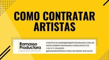 contratar artistas y disertantes