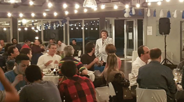 Alfredo Silva en fiesta de fin de año Lindal