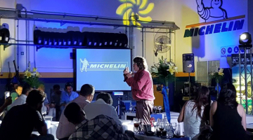 Alfredo Silva en inauguración de Michelin, Ciudadela