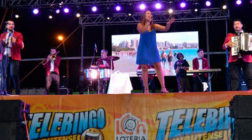 Angela Leiva en el Telebingo Chubutense, Puerto Madryn