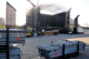 Armado de escenario Lollapalooza 2012