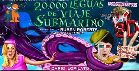 Contratacion de 20.000 leguas de viaje submarino en 3D