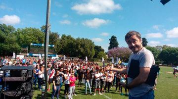 Pablo Granados en la Fiesta de fin de año de AXION Energy