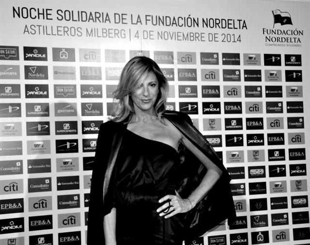 Claudia Fontán en la cena solidaria Fundación Nordelta 2014