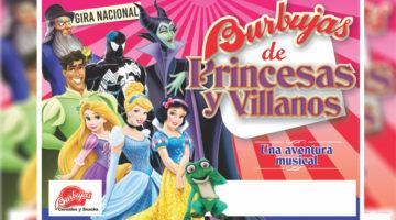 burbujas de princesas y villanos