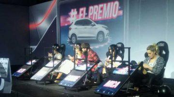 Mica Viciconte en la presentación de Fiat Argo