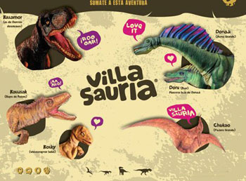 Contratar a Villasauria, la isla de los dinosaurios