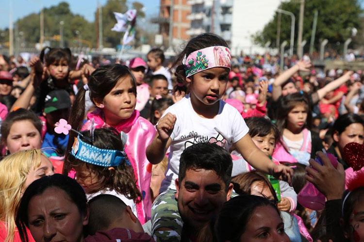 Nazareno en el día del niño en Plaza San Justo