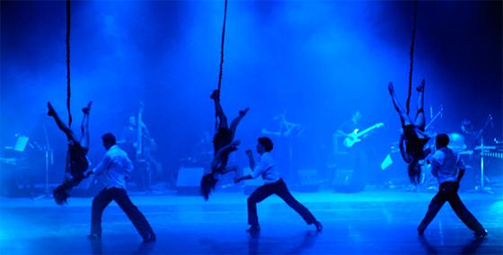 show de danza aerea