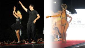 Pía Slapka y Hernán Drago en el Desfile Turismo Moda de Tafi del Valle