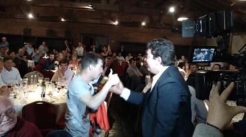 Nazareno Móttola en cena empresarios de la industria de La Matanza