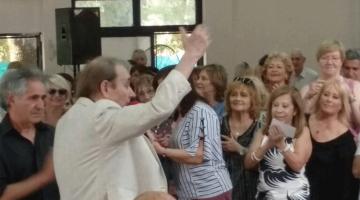 Juan Ramón en fin de año de jubilados de AEFIP