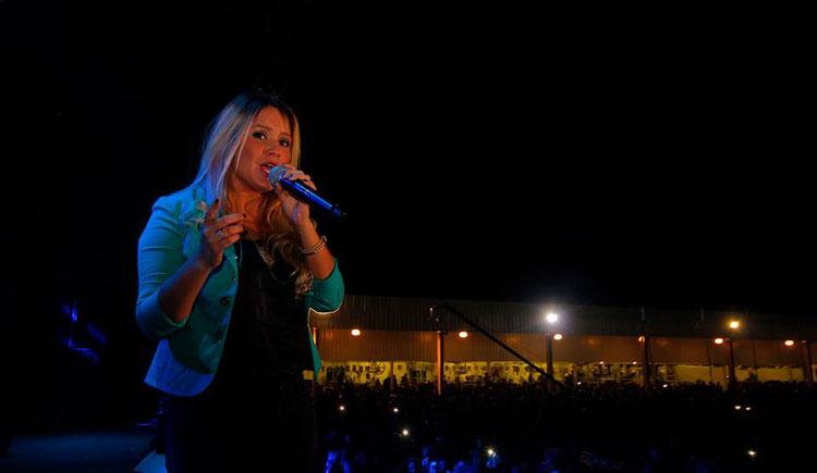 Cacho Buenaventura, Karina y Los Nocheros en la Muestra Internacional de Lechería 2014