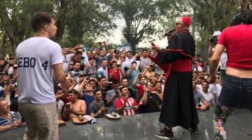 Los Rebos y Cumbia Papal en fin en año UTA