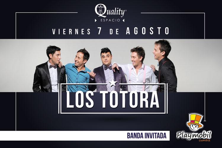 Los Totora en Espacio Quality de Córdoba