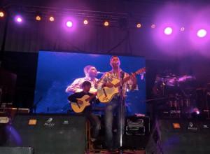 Luciano Pereyra en el festival folklorico de Lujan