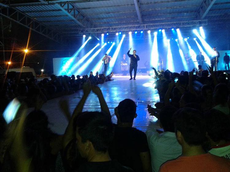 Mario Luis y Sergio Gonal en la Fiesta Nacional del Algodón