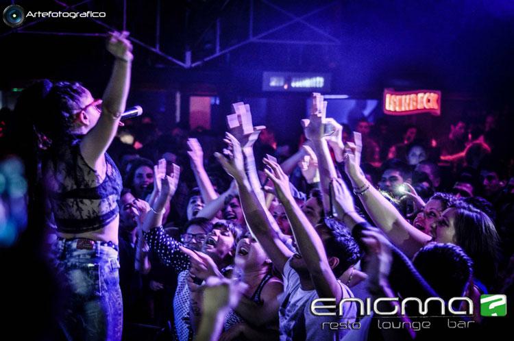 Miss Bolivia en Enigma Disco de Quilmes