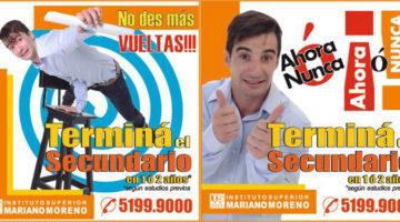 Nazareno Móttola, campaña Instituto Superior Mariano Moreno