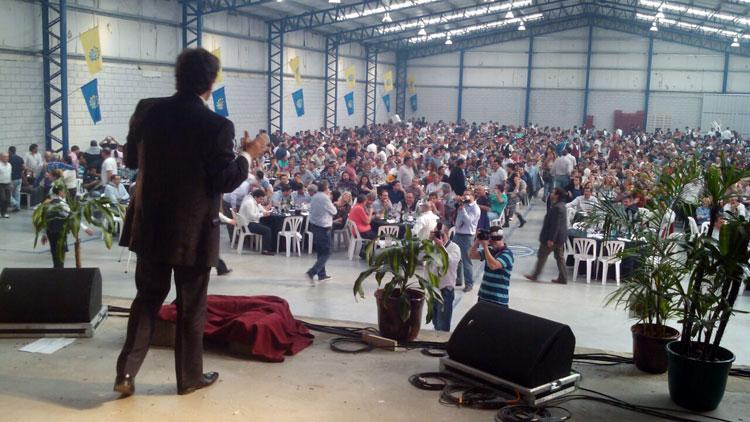 Sergio Gonal en el Día del Metalúrgico en la UOM