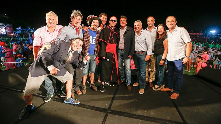 Sergio Massa en la Fiesta de las colonias de verano 2014