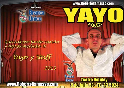 Programa de Mano teatro Yayo